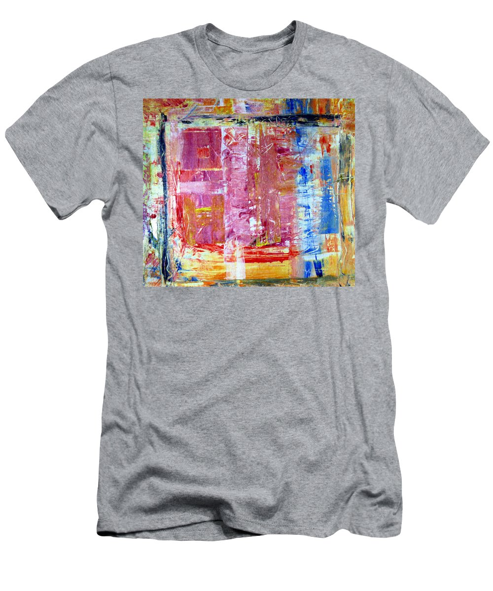 Abstract Men's T-Shirt (Athletic Fit) featuring the painting Morning by Wayne Potrafka