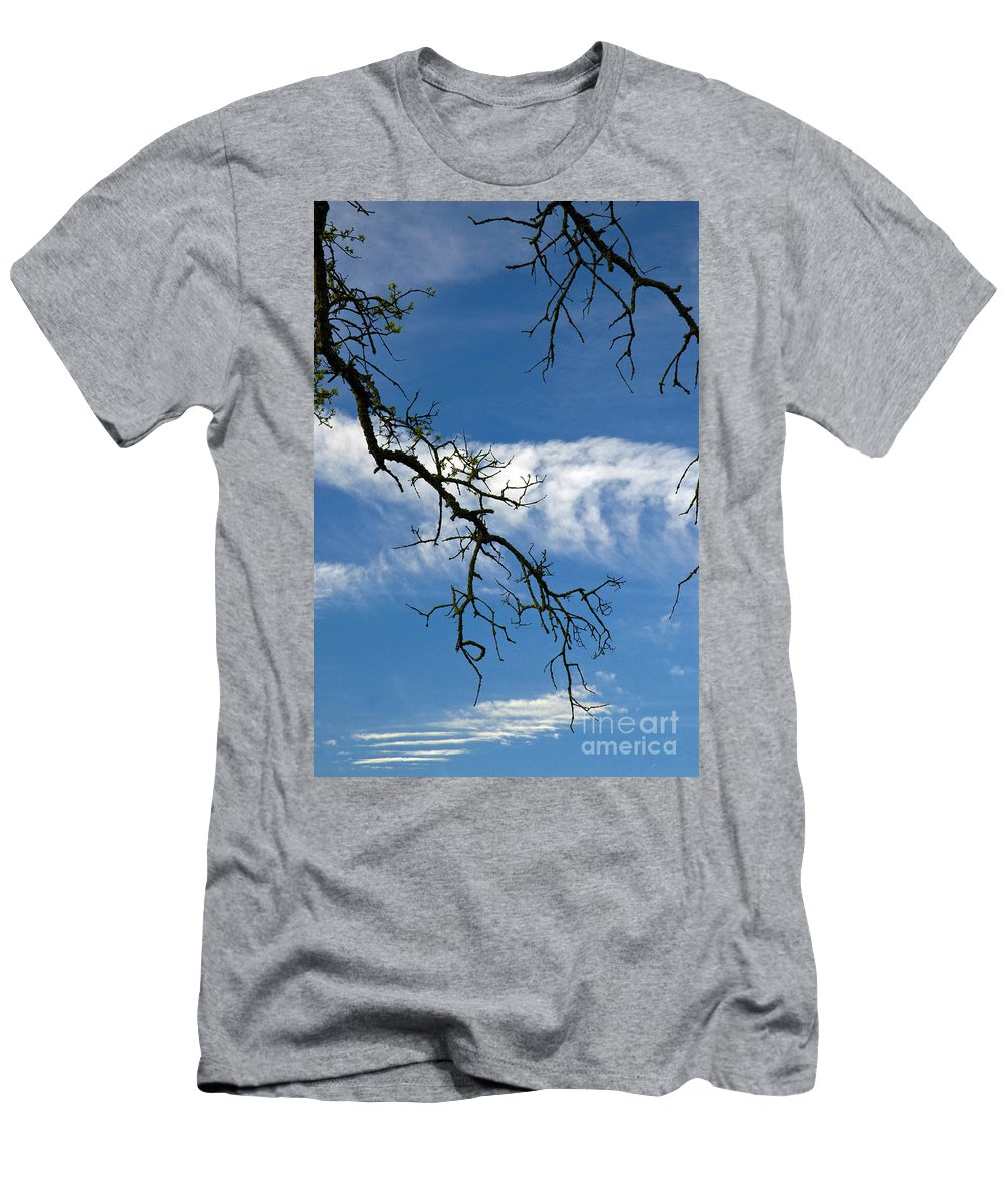California Scenes Men's T-Shirt (Athletic Fit) featuring the photograph Mossy Branches Skyscape by Norman Andrus