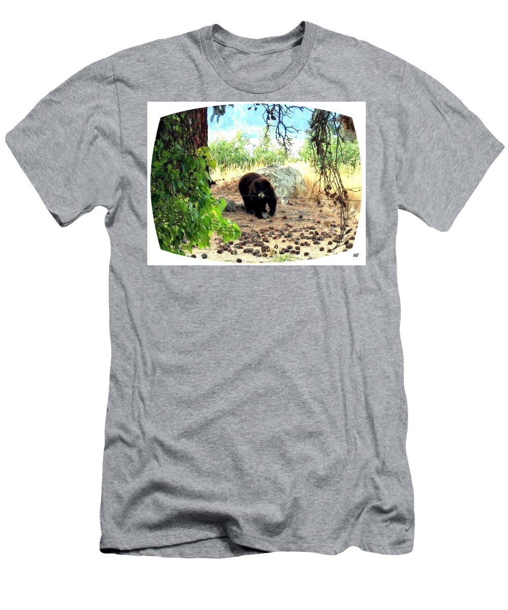 Bear Men's T-Shirt (Athletic Fit) featuring the photograph Mother Bear by Will Borden