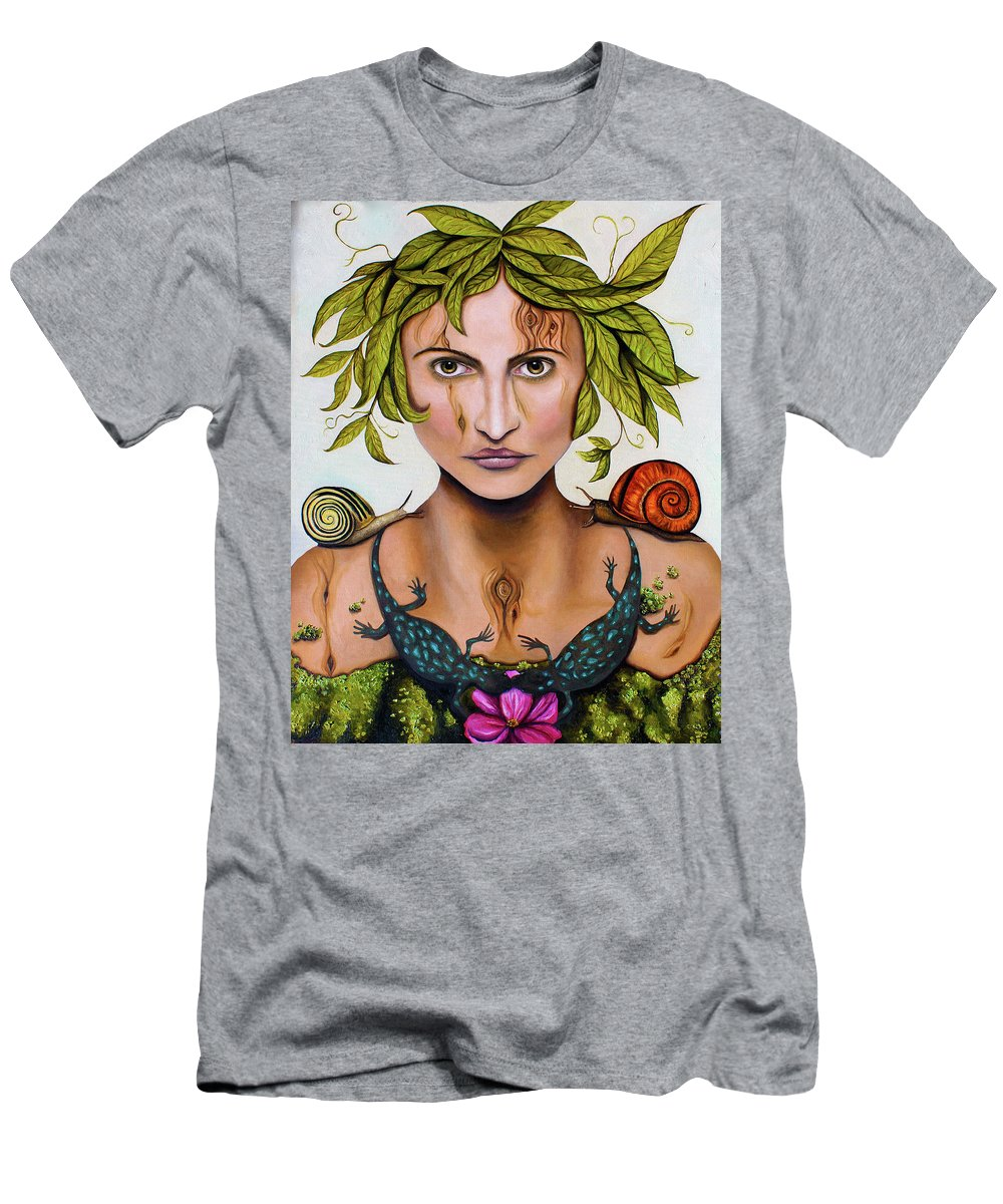 Portrait Men's T-Shirt (Athletic Fit) featuring the painting Mother Nature by Leah Saulnier The Painting Maniac