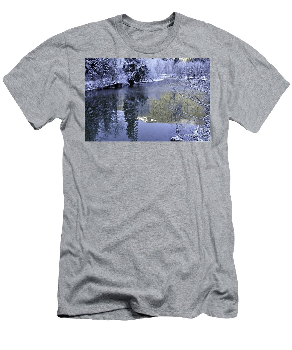 Clay Men's T-Shirt (Athletic Fit) featuring the photograph Mother Natures Chilling Touch by Clayton Bruster