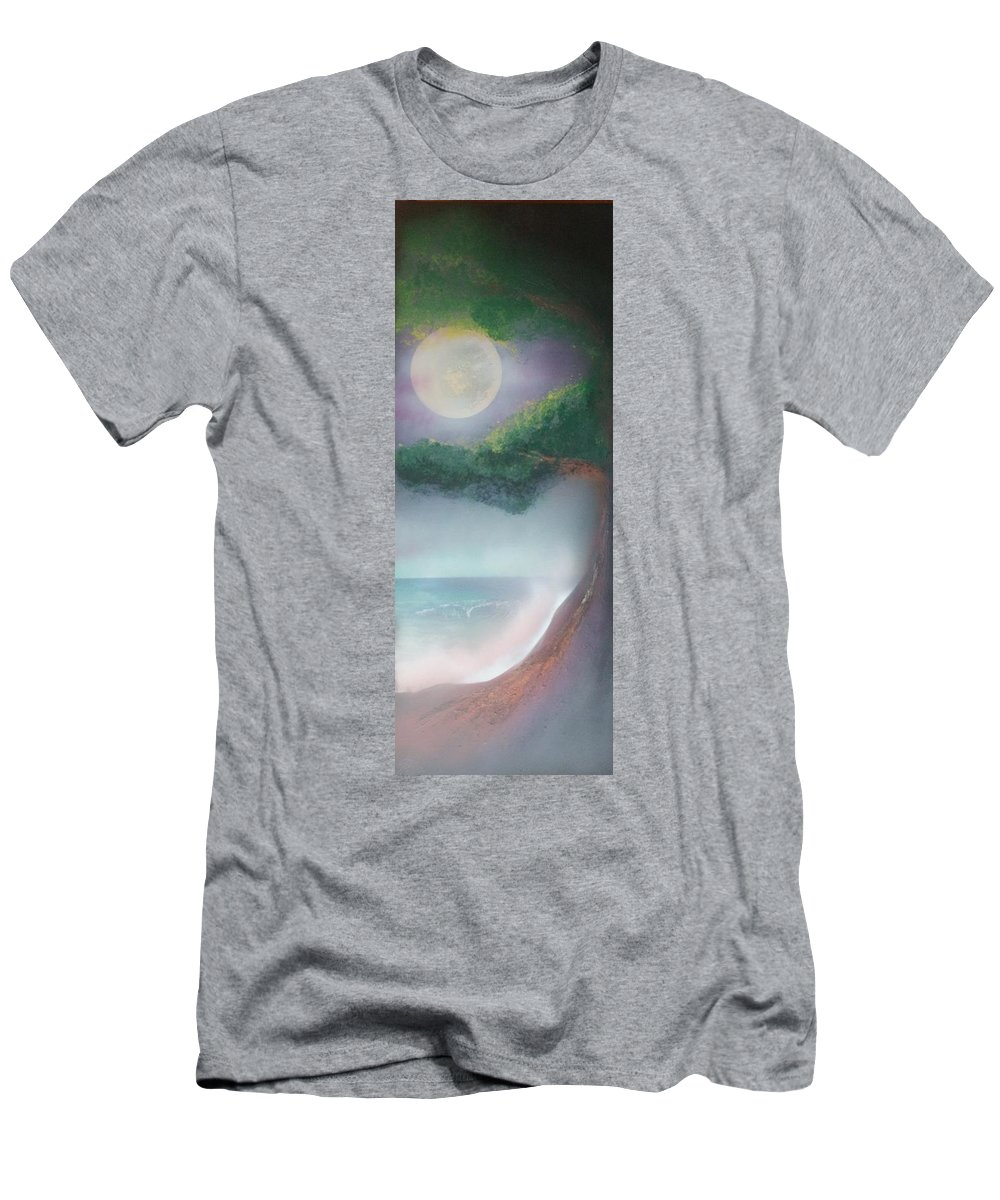 Landscape Men's T-Shirt (Athletic Fit) featuring the painting Mother Natures Face by James Bender