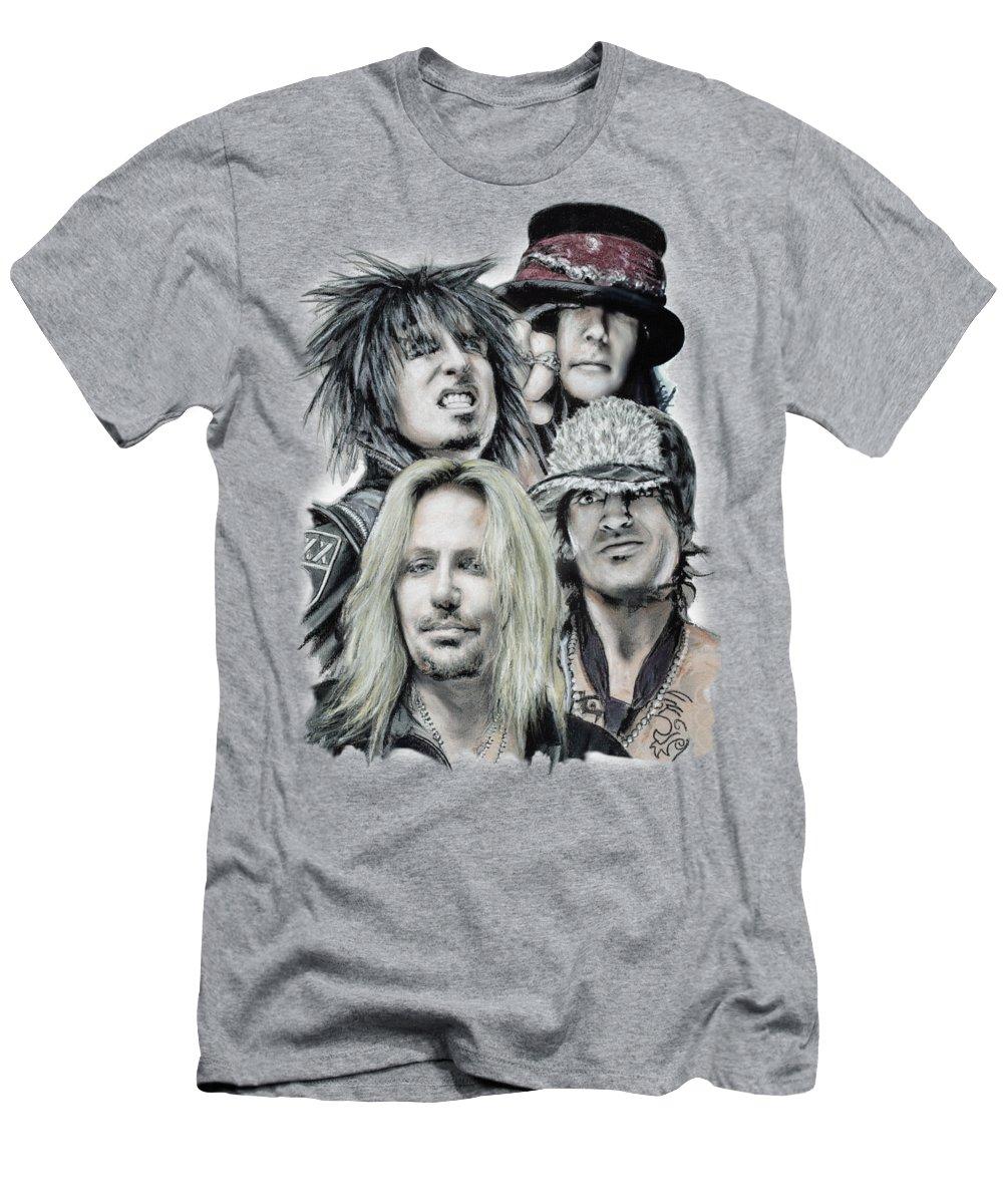 Motley Crue Men's T-Shirt (Athletic Fit) featuring the pastel Motley Crue by Melanie D