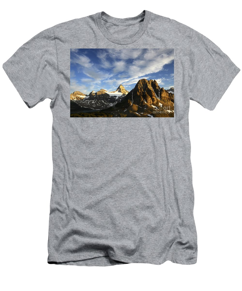 Mount Assiniboine Men's T-Shirt (Athletic Fit) featuring the photograph Mount Assiniboine Canada 14 by Bob Christopher