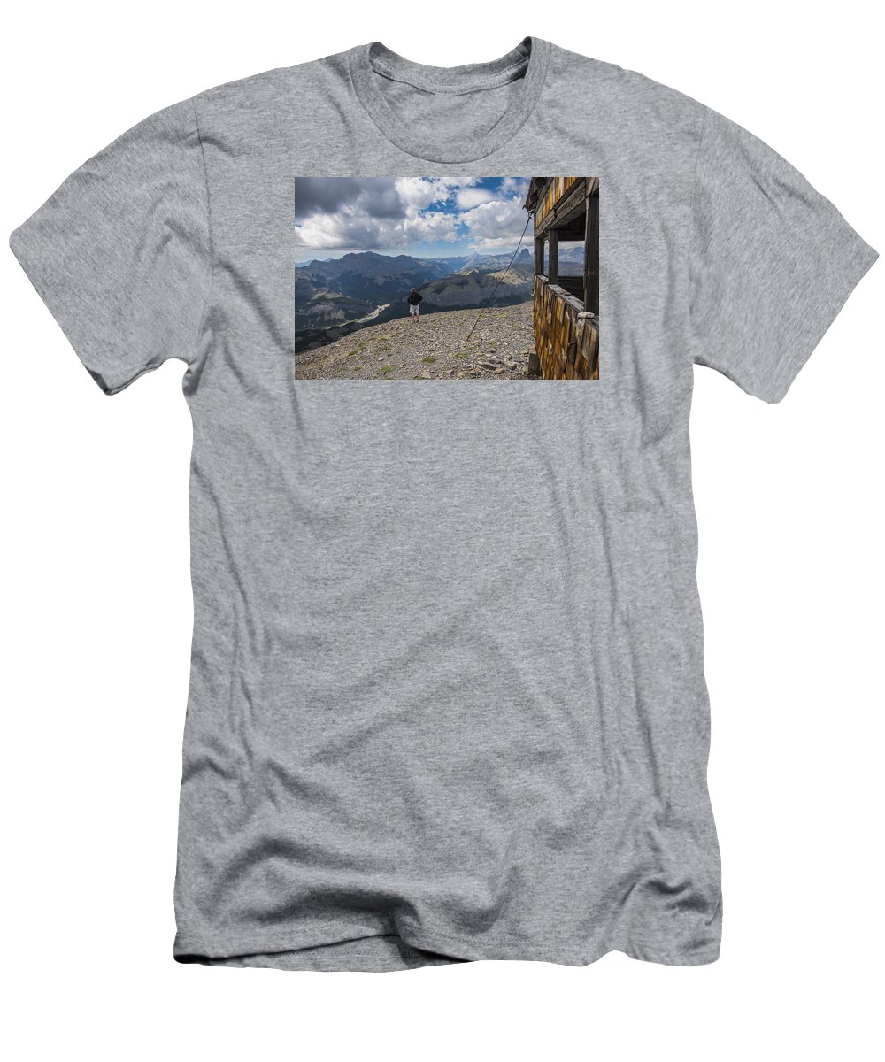 Alberta Men's T-Shirt (Athletic Fit) featuring the photograph Mount Black Rock by Brandon Smith
