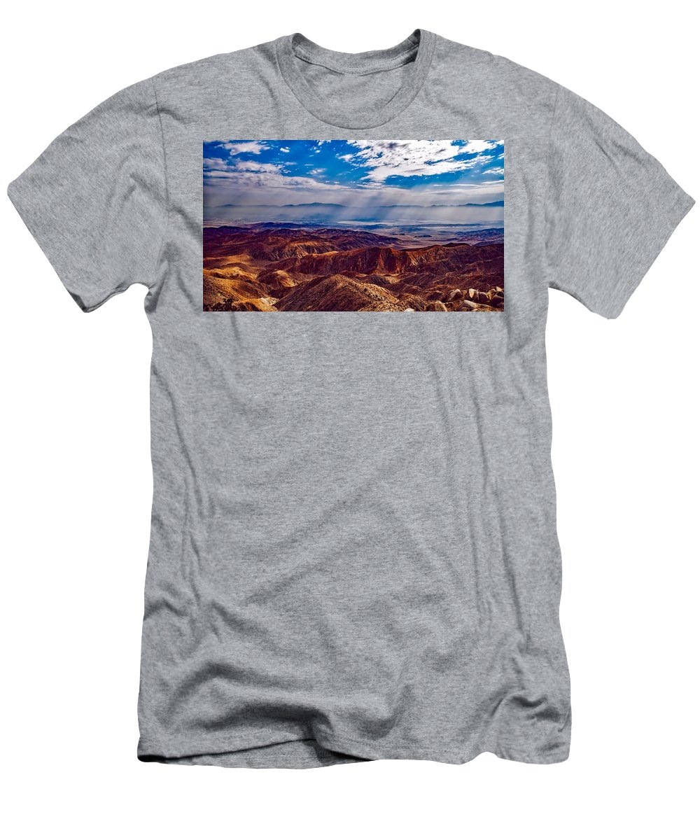 Sky Men's T-Shirt (Athletic Fit) featuring the photograph Mountain Vista by Jon Grogan