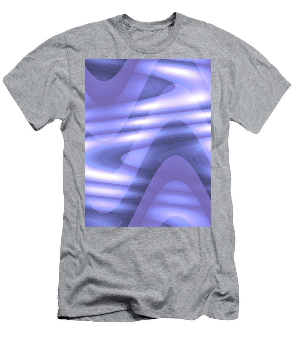Moveonart! Global Gathering. Jacob Kanduch Men's T-Shirt (Athletic Fit) featuring the digital art Moveonart Blu Wave Focus by Jacob Kanduch
