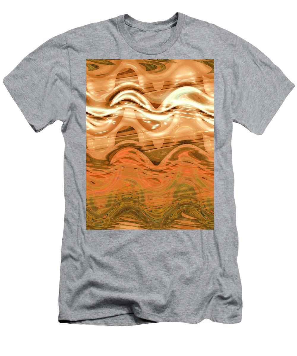 Moveonart! New York / San Francisco / Oklahoma / Portland / Missoula Jacob Kanduch Men's T-Shirt (Athletic Fit) featuring the digital art Moveonart Change Of Season To Autumn by Jacob Kanduch
