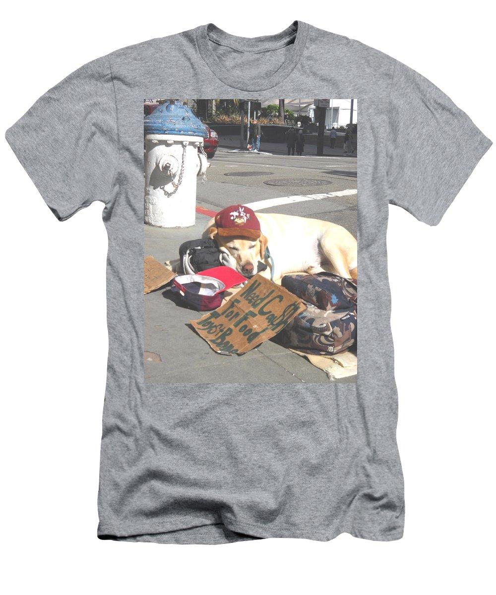 Moveonart Digital Gallery San Francisco California Lower Nob Hill Jacob Kane Kanduch Men's T-Shirt (Athletic Fit) featuring the digital art Moveonart Everyday In Sf 1 by Jacob Kanduch