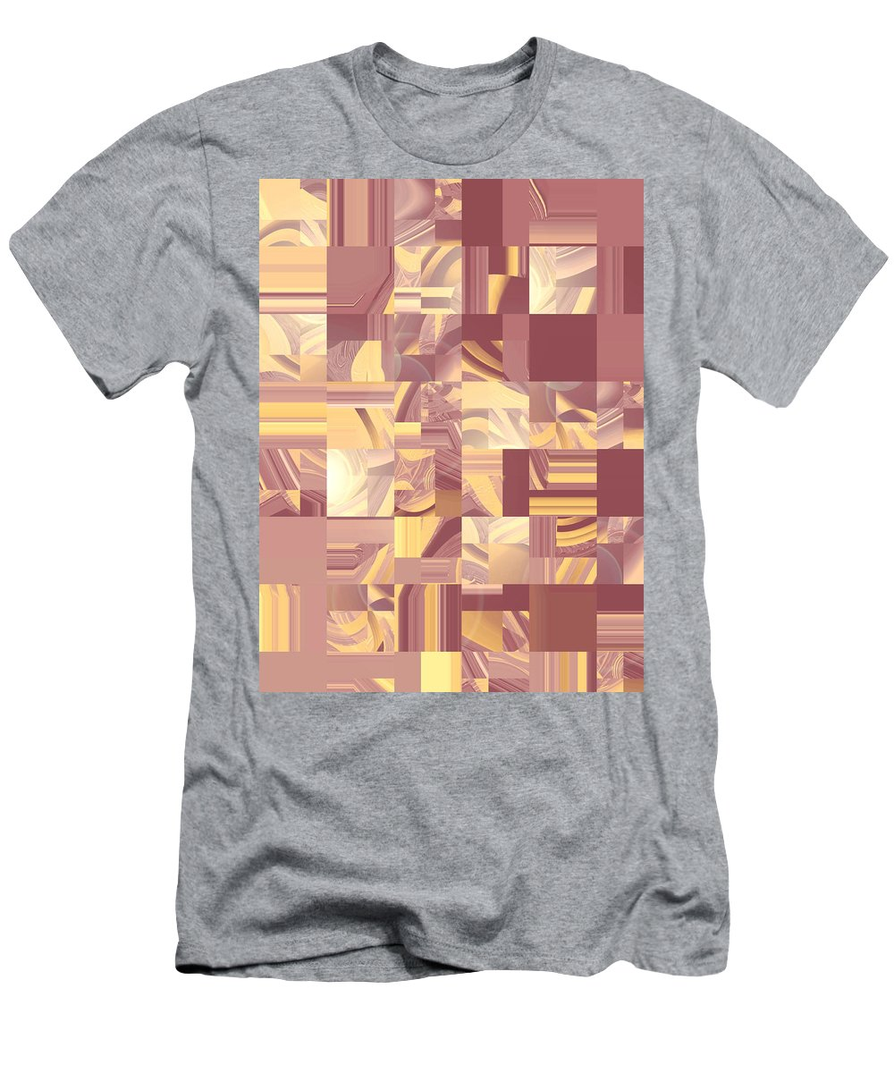 Moveonart Digital Gallery San Francisco California Lower Nob Hill Jacob Kane Kanduch Men's T-Shirt (Athletic Fit) featuring the digital art Moveonart Midwest Memories 2 by Jacob Kanduch