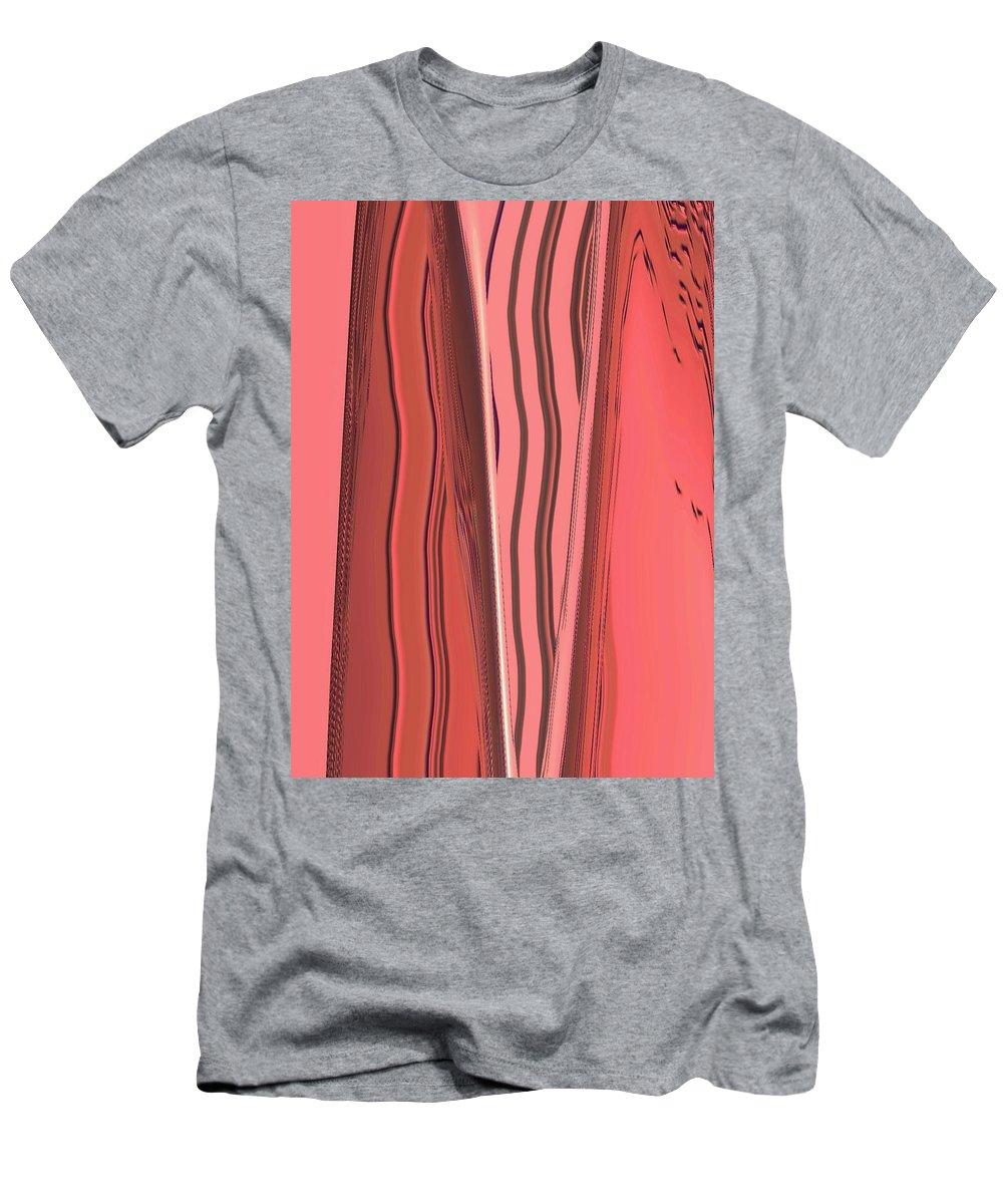 Moveonart Digital Gallery Lower Nob Hill Jacob Kanduch San Francisco California Men's T-Shirt (Athletic Fit) featuring the digital art Moveonart Orange Moment 1 by Jacob Kanduch