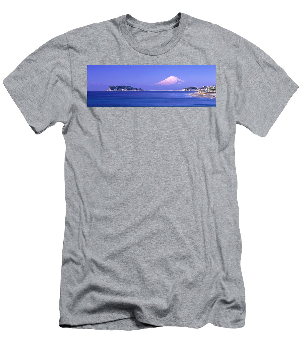 Photography Men's T-Shirt (Athletic Fit) featuring the photograph Mt Fuji Kanagawa Japan by Panoramic Images