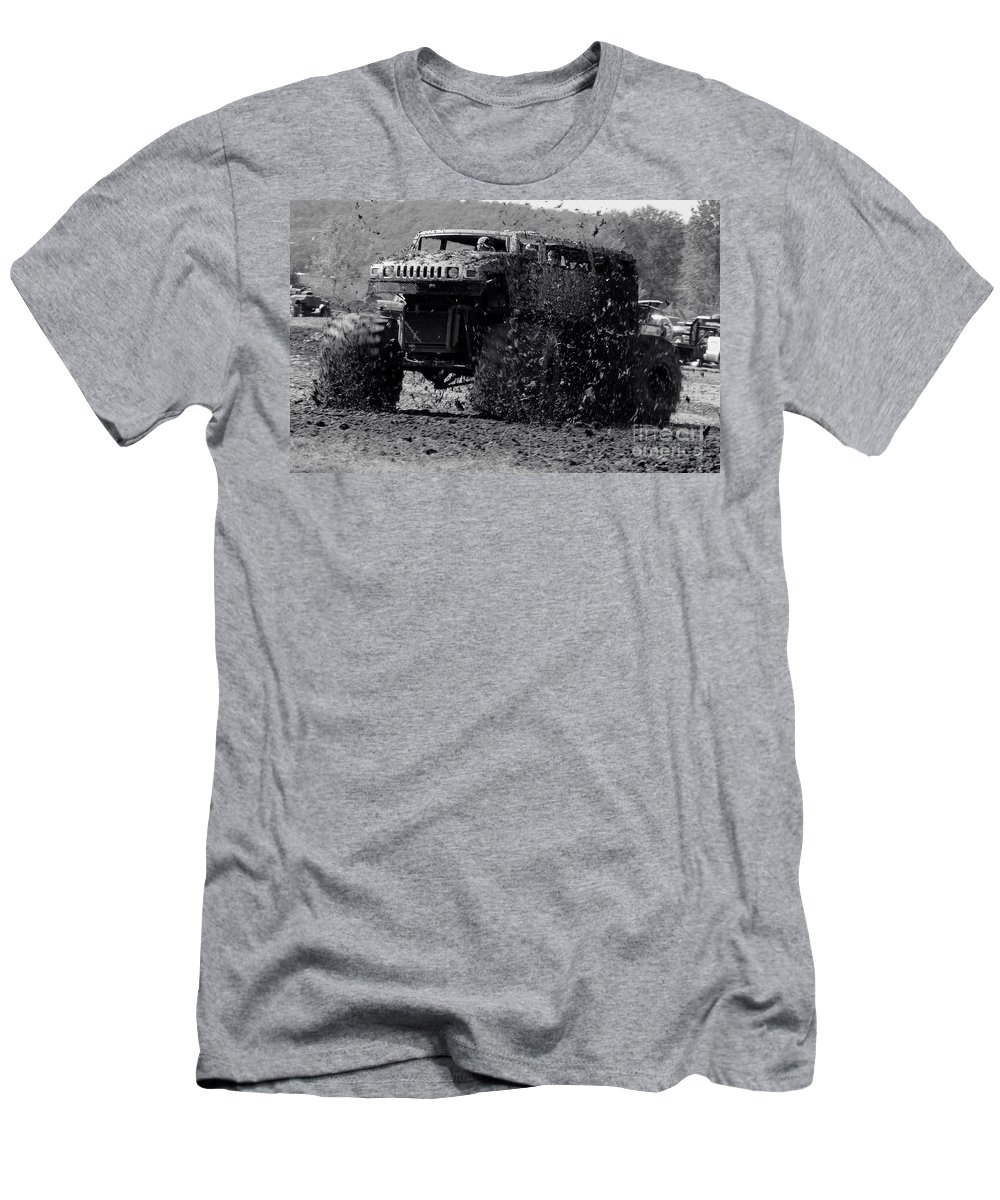 Mud Men's T-Shirt (Athletic Fit) featuring the photograph Mudder by Robert Frederick