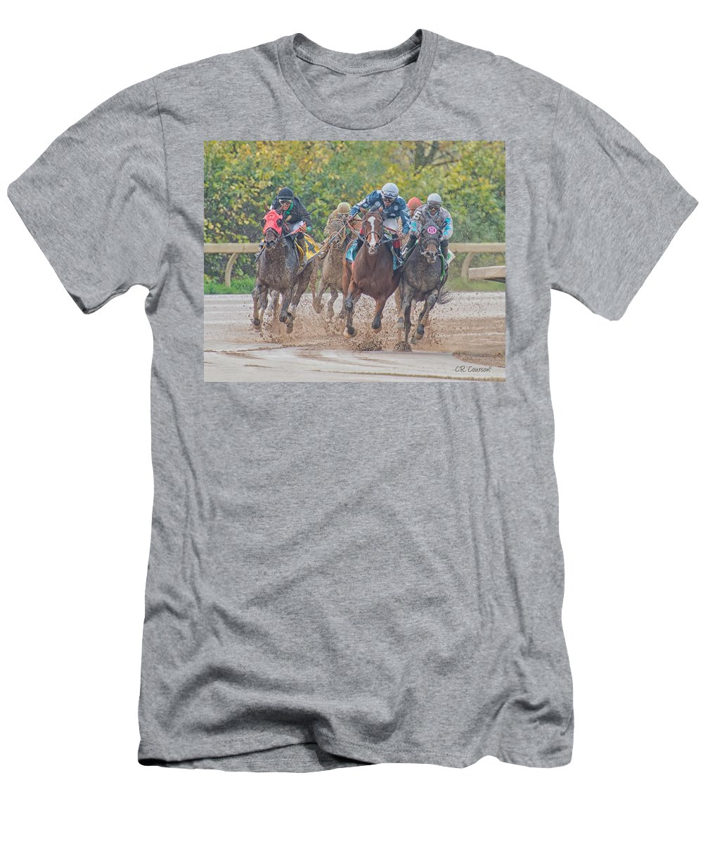 Muddy Turn Men's T-Shirt (Athletic Fit) featuring the photograph Muddy Turn by CR Courson