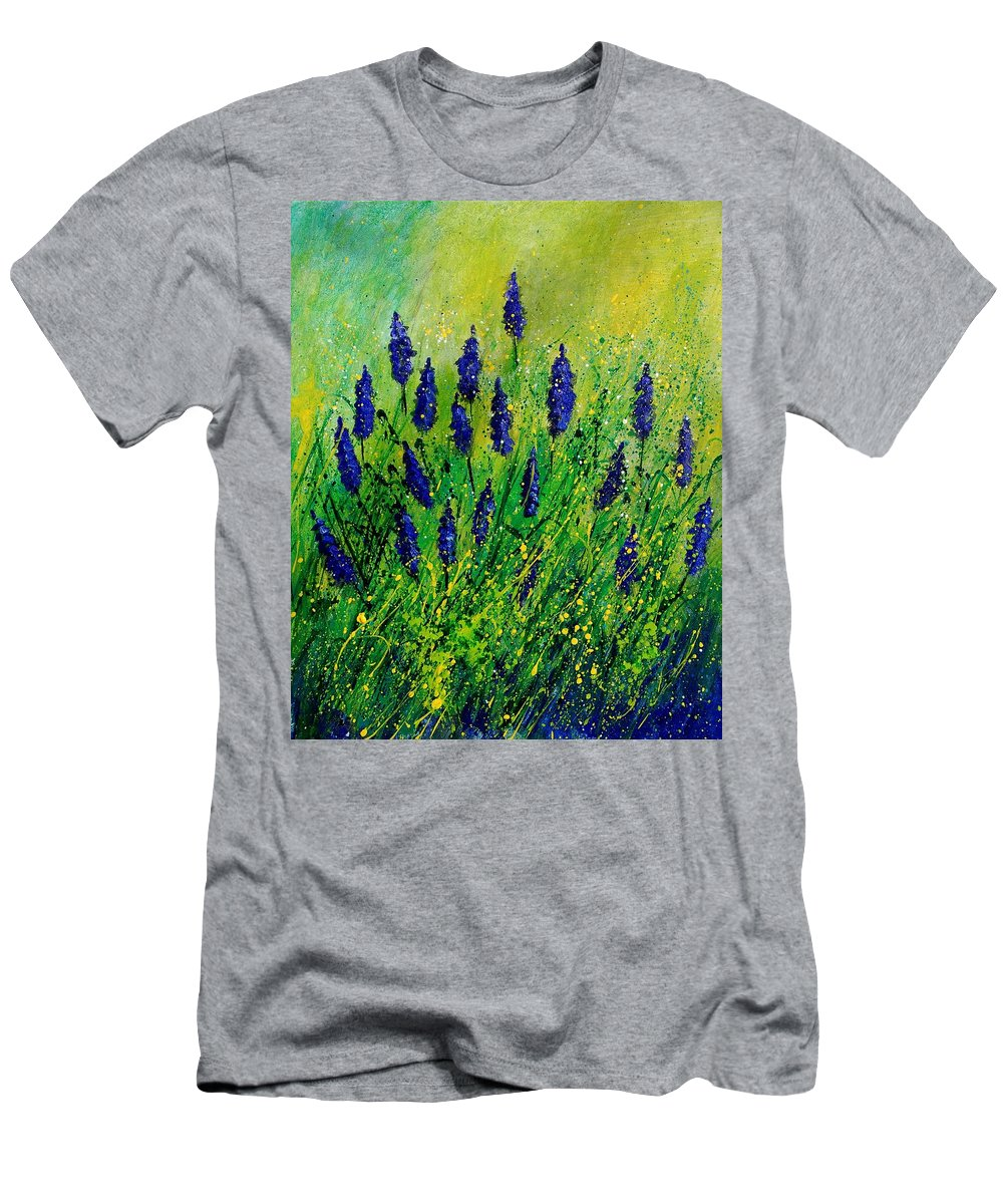 Flowers Men's T-Shirt (Athletic Fit) featuring the painting Muscaris 4590 by Pol Ledent