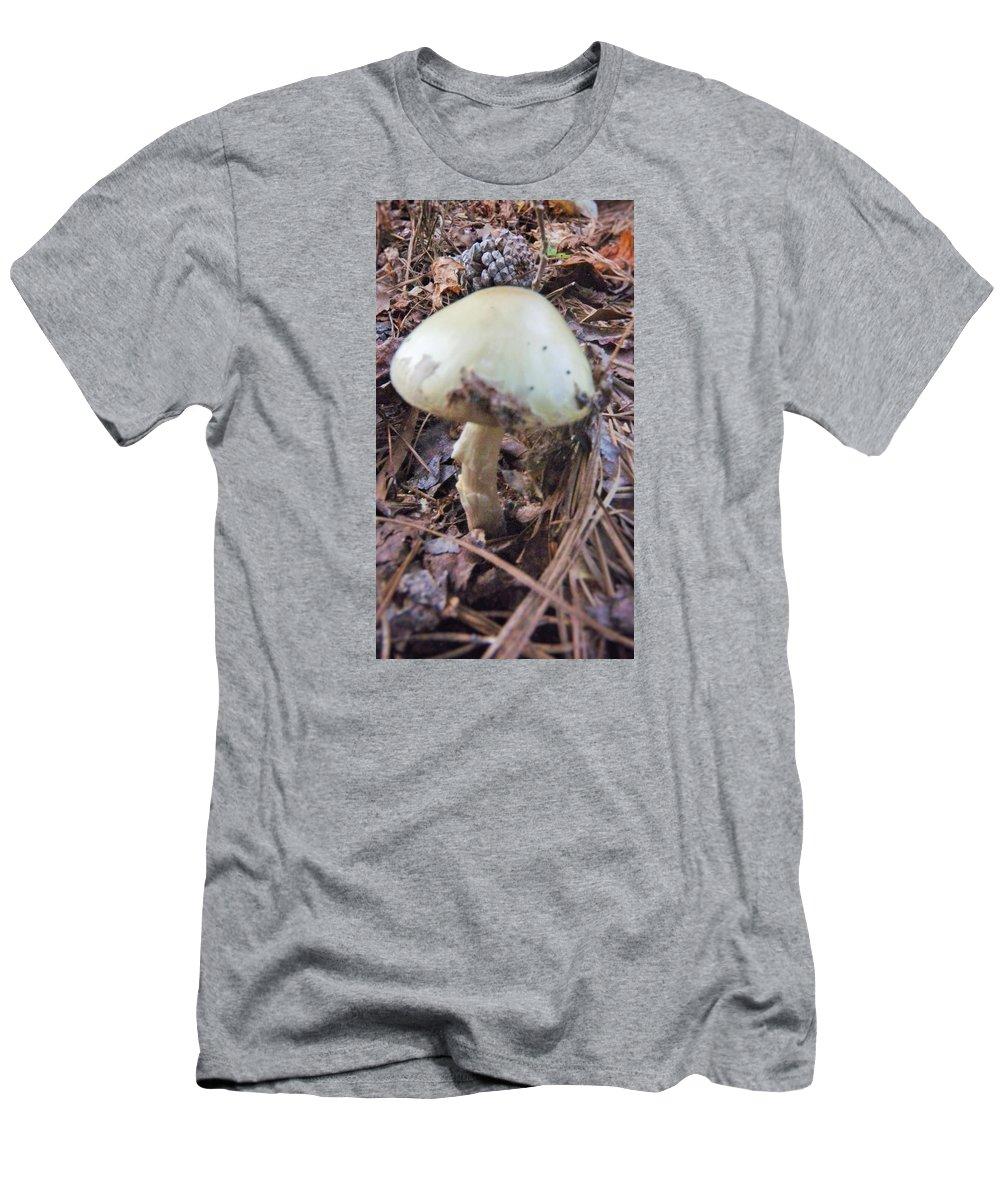 Landscape Men's T-Shirt (Athletic Fit) featuring the photograph Mushroom by Mark Battaglia
