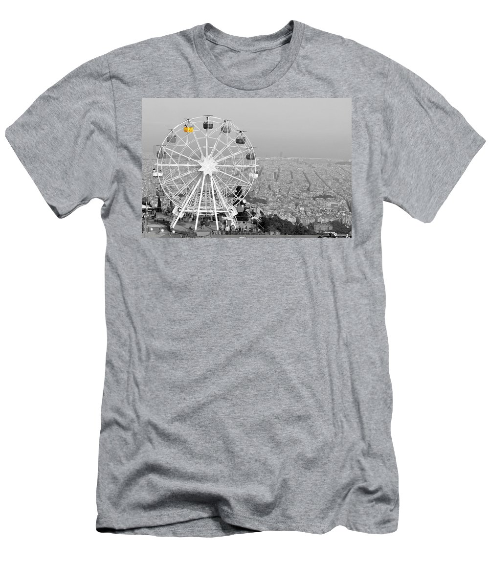 The Town Men's T-Shirt (Athletic Fit) featuring the photograph My Barcelona.. by Dorota Stolarz