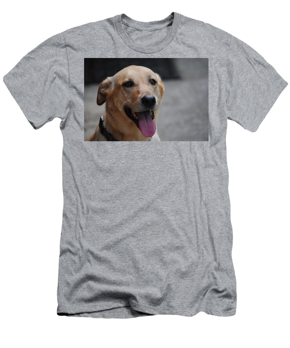 Pet Men's T-Shirt (Athletic Fit) featuring the photograph My Dog Ubu by Eric Liller