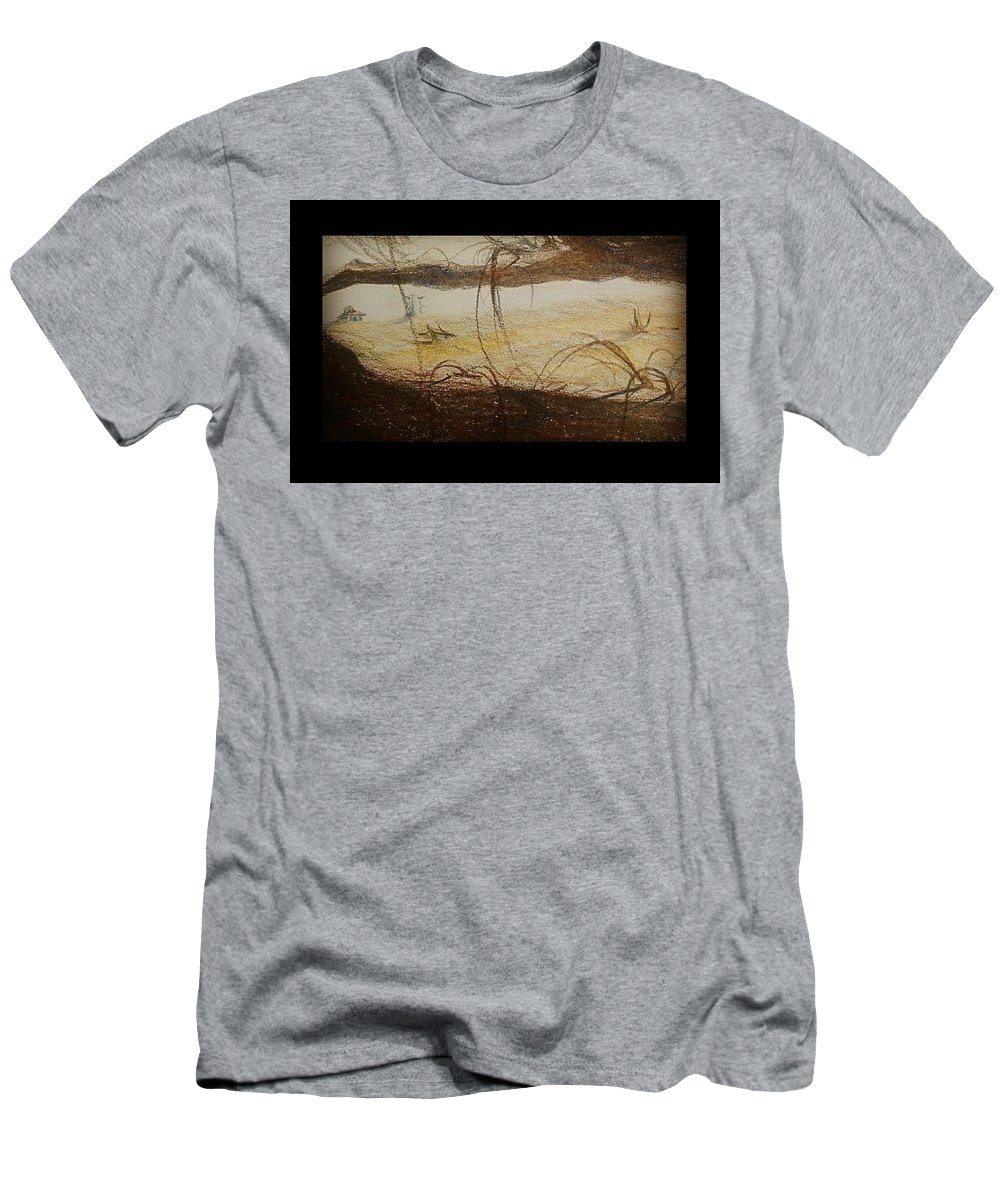 Men's T-Shirt (Athletic Fit) featuring the painting My Dreamland by Matin Shabani