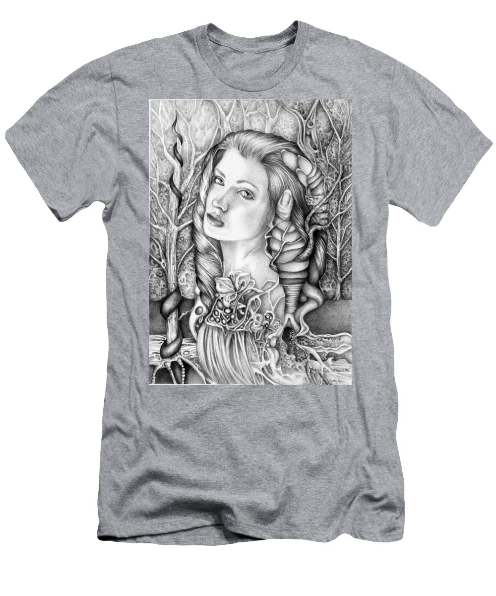 Surreal Men's T-Shirt (Athletic Fit) featuring the drawing My Immortal by Janelle McKain