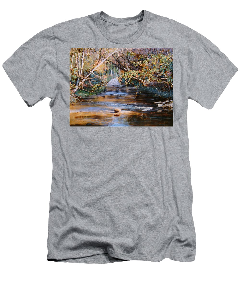 Peace Project Men's T-Shirt (Athletic Fit) featuring the painting My Secret Place by Ben Kiger