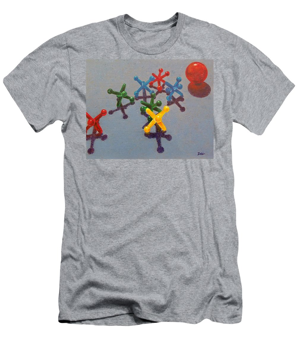 Sue Delain Men's T-Shirt (Athletic Fit) featuring the painting My Turn by Susan DeLain