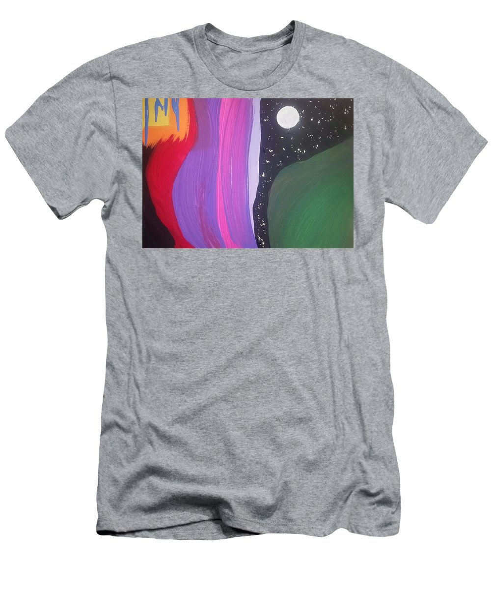 Abstract Men's T-Shirt (Athletic Fit) featuring the painting Mysteries Of Womanhood by Vale Anoa'i