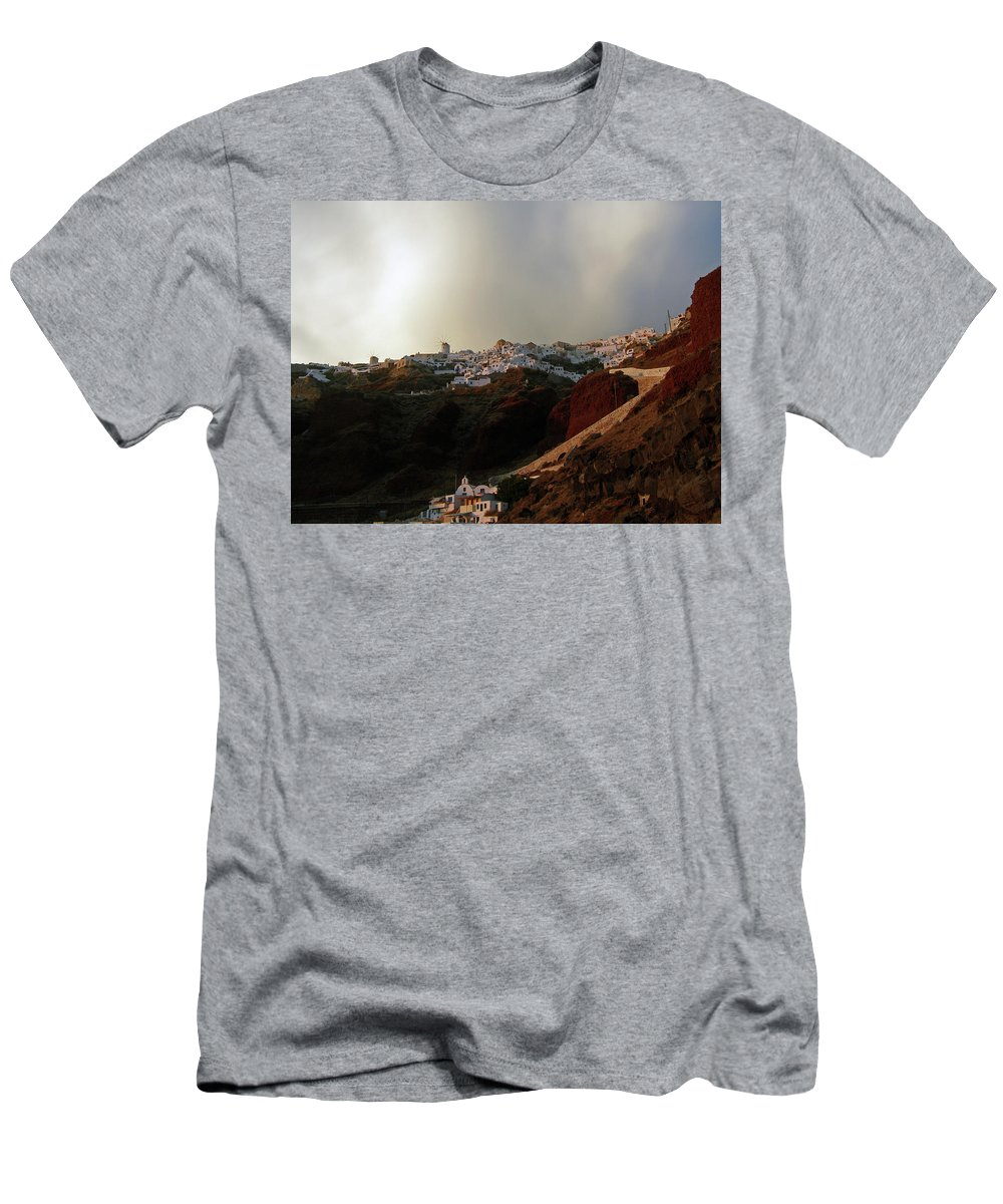 Artwork By Maria Woithofer Men's T-Shirt (Athletic Fit) featuring the photograph Mysterious Sky by Maria Woithofer