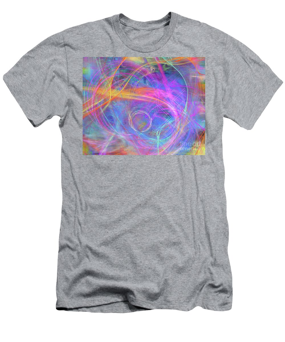 Mystic Beginning Men's T-Shirt (Athletic Fit) featuring the digital art Mystic Beginning by John Beck