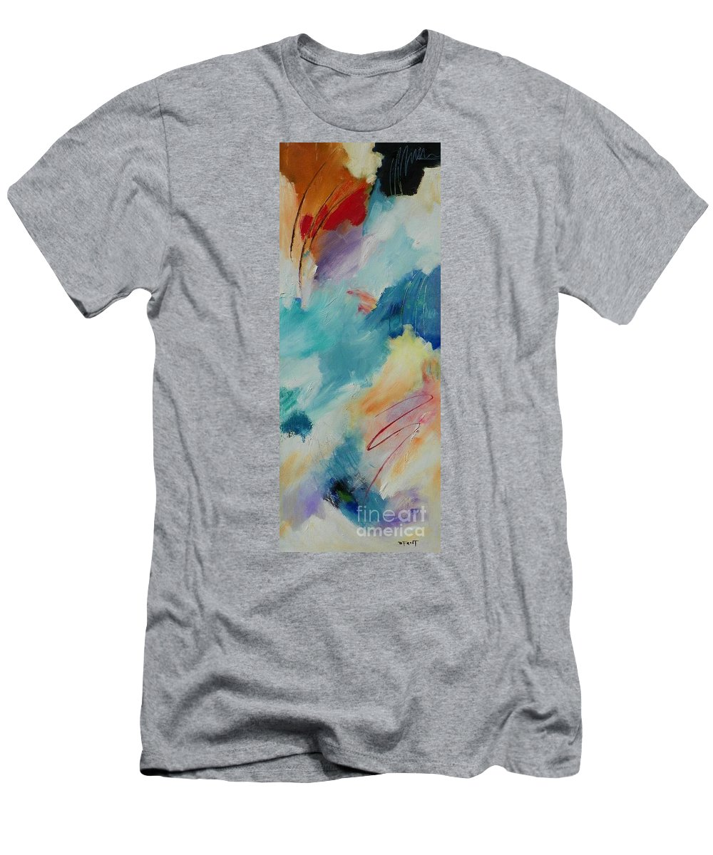 Abstract Expressionism Men's T-Shirt (Athletic Fit) featuring the painting Mystic Mood 001 by Donna Frost