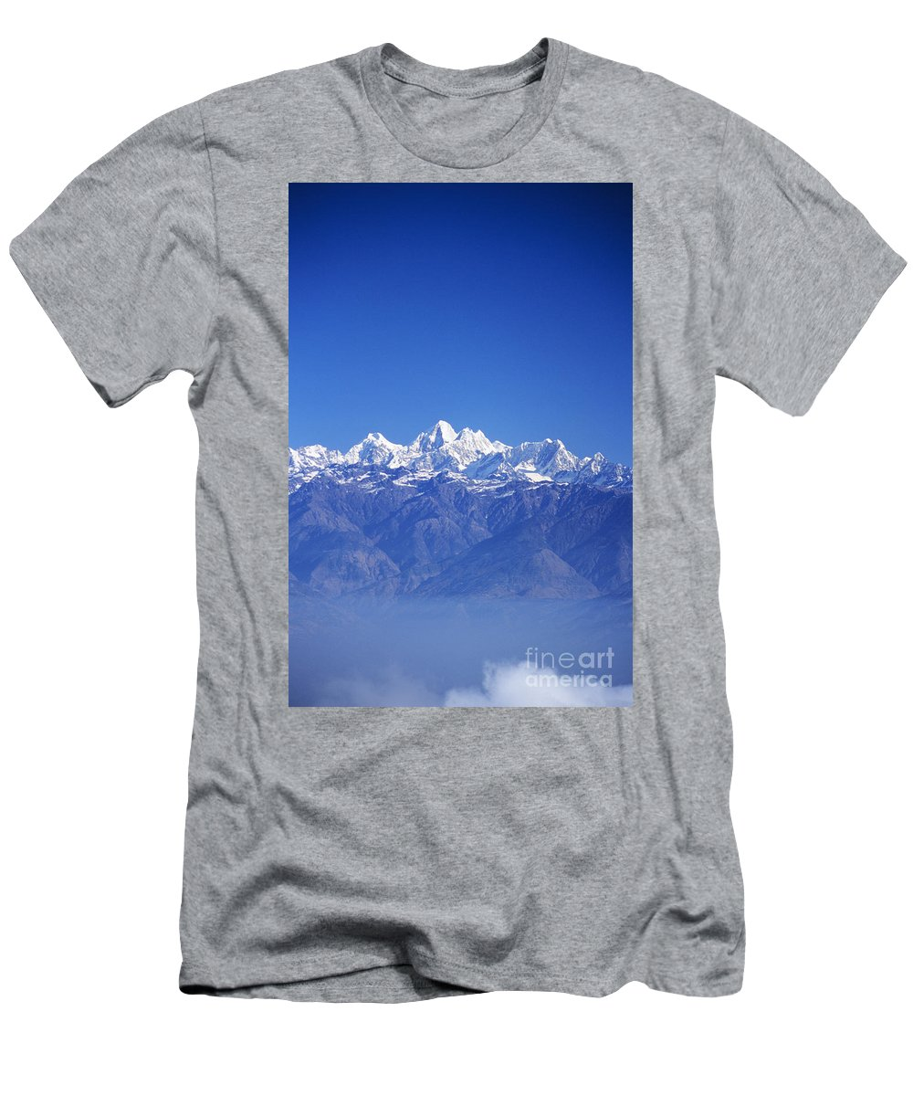 Air Art Men's T-Shirt (Athletic Fit) featuring the photograph Nagarkot View by Gloria & Richard Maschmeyer - Printscapes