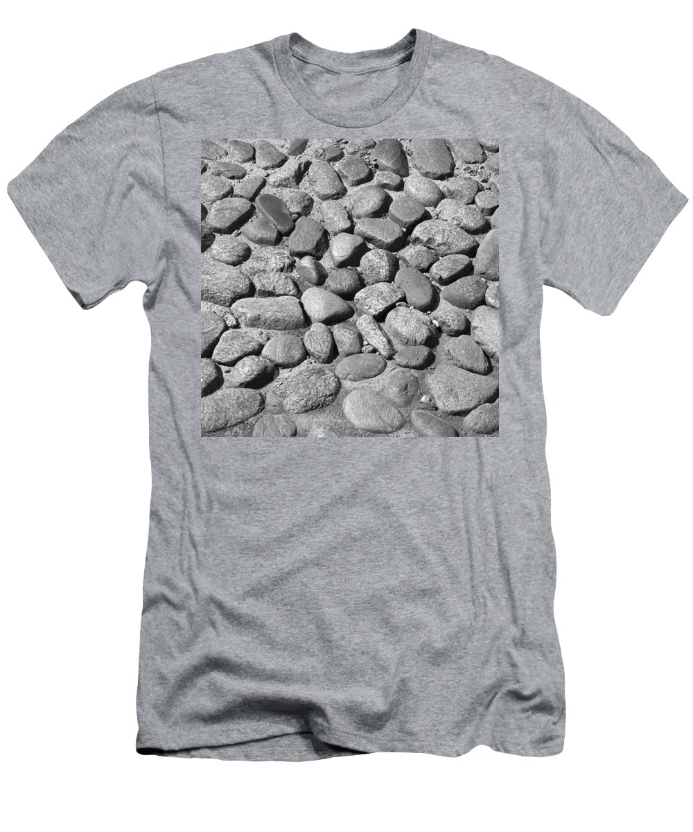 Nantucket Men's T-Shirt (Athletic Fit) featuring the photograph Nantucket Cobblestones by Charles Harden