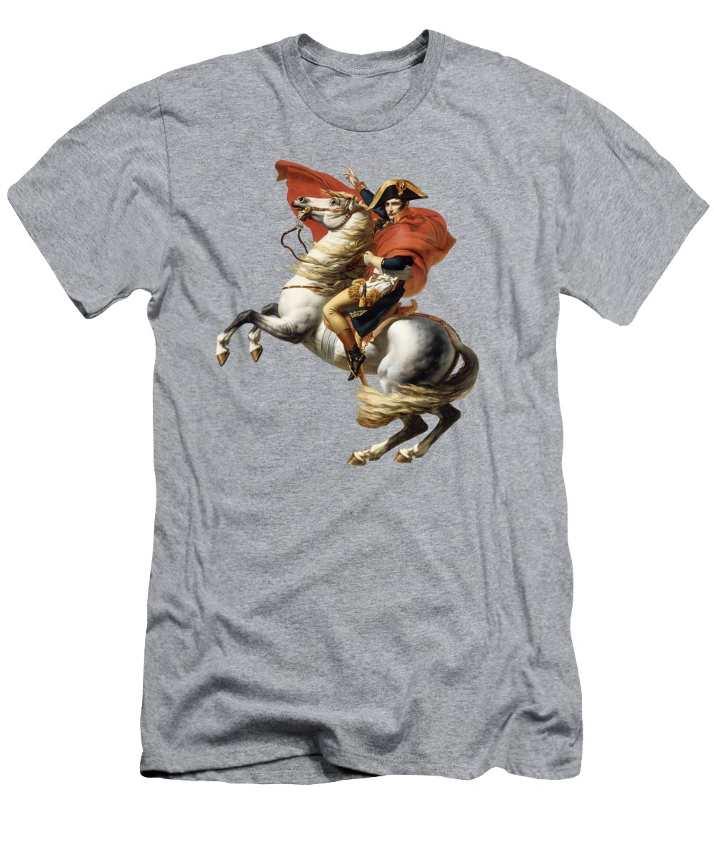 Napoleon Men's T-Shirt (Athletic Fit) featuring the painting Napoleon Bonaparte On Horseback by War Is Hell Store