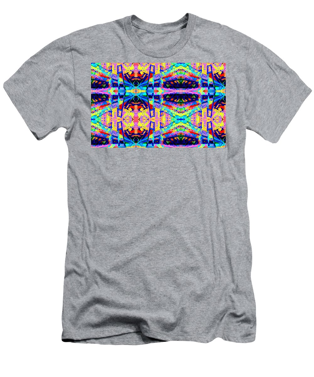 Vivid Color Abstract Therapeutic Relief Image Men's T-Shirt (Athletic Fit) featuring the photograph Narrows by John P Earls