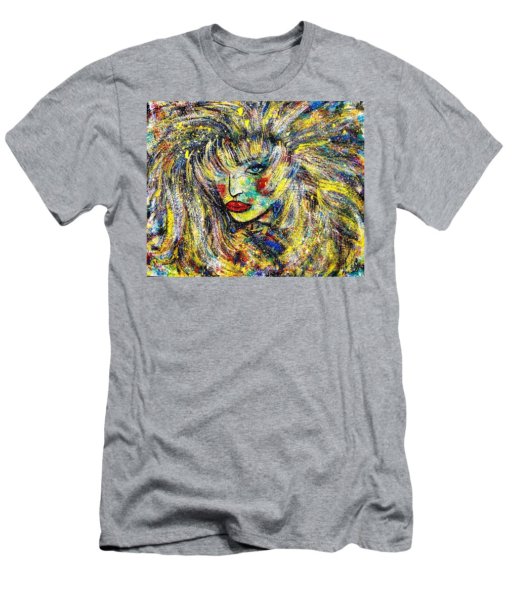 Portrait Men's T-Shirt (Athletic Fit) featuring the painting Natalya by Natalie Holland