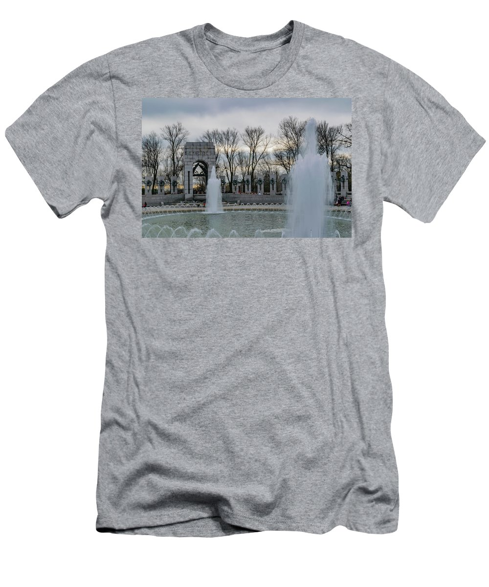American Men's T-Shirt (Athletic Fit) featuring the photograph National World War II Memorial by Cityscape Photography