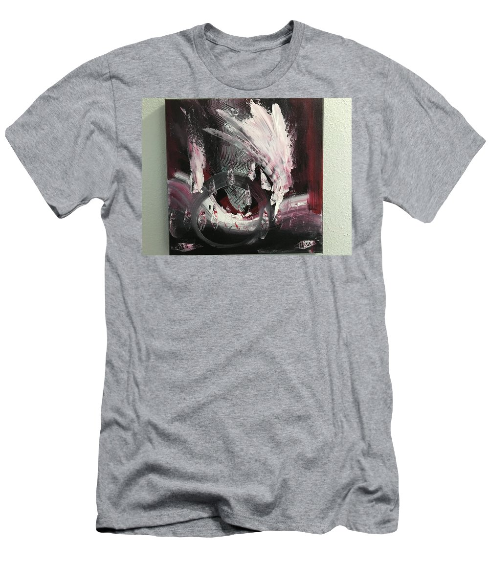 Abstract Native Art Men's T-Shirt (Athletic Fit) featuring the painting Native by Michael Walters