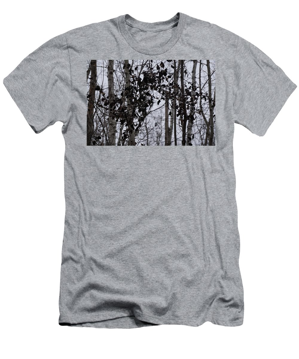 Black And White Landscape Photograph Men's T-Shirt (Athletic Fit) featuring the photograph Natural Black And White by Desmond Raymond