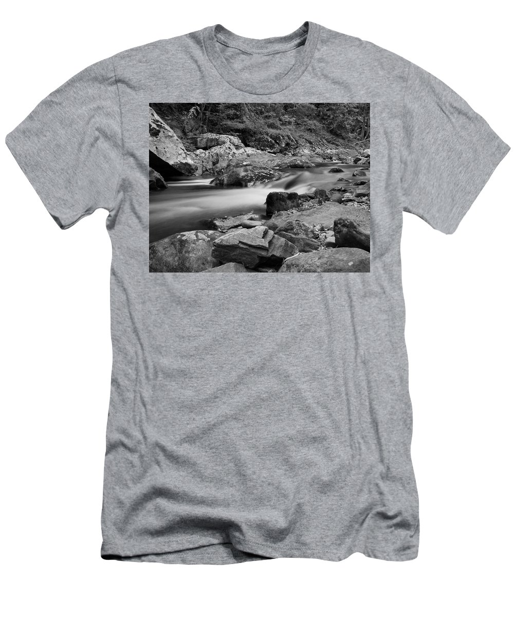 Natural Contrast Black And White Men's T-Shirt (Athletic Fit) featuring the photograph Natural Contrast Black And White by Dan Sproul