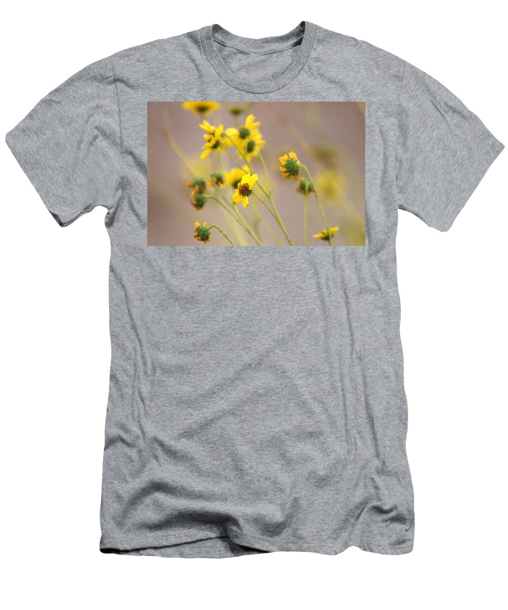 Tarnished Flowers Men's T-Shirt (Athletic Fit) featuring the photograph Natural Flowers by Scott Sawyer
