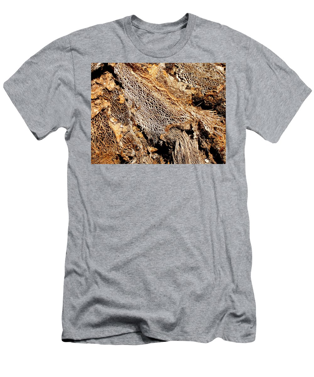 Texture Men's T-Shirt (Athletic Fit) featuring the photograph Natural Textural Abstract by Wayne Potrafka