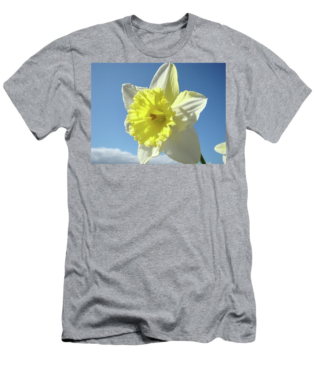 �daffodils Artwork� Men's T-Shirt (Athletic Fit) featuring the photograph Nature Daffodil Flowers Art Prints Spring Nature Art by Baslee Troutman