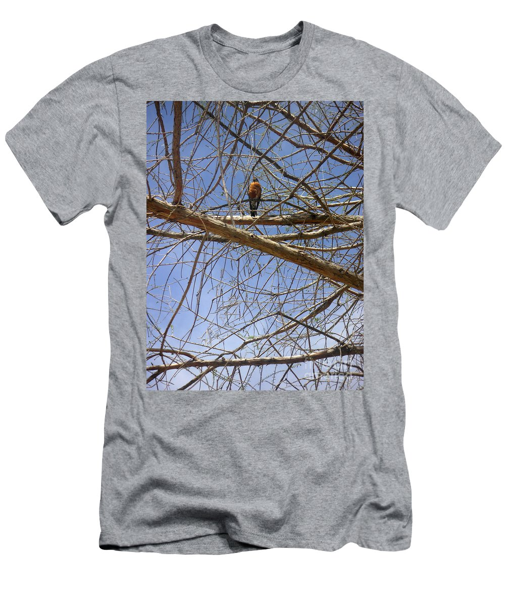 Nature Men's T-Shirt (Athletic Fit) featuring the photograph Nature In The Wild - Annoucing Spring by Lucyna A M Green