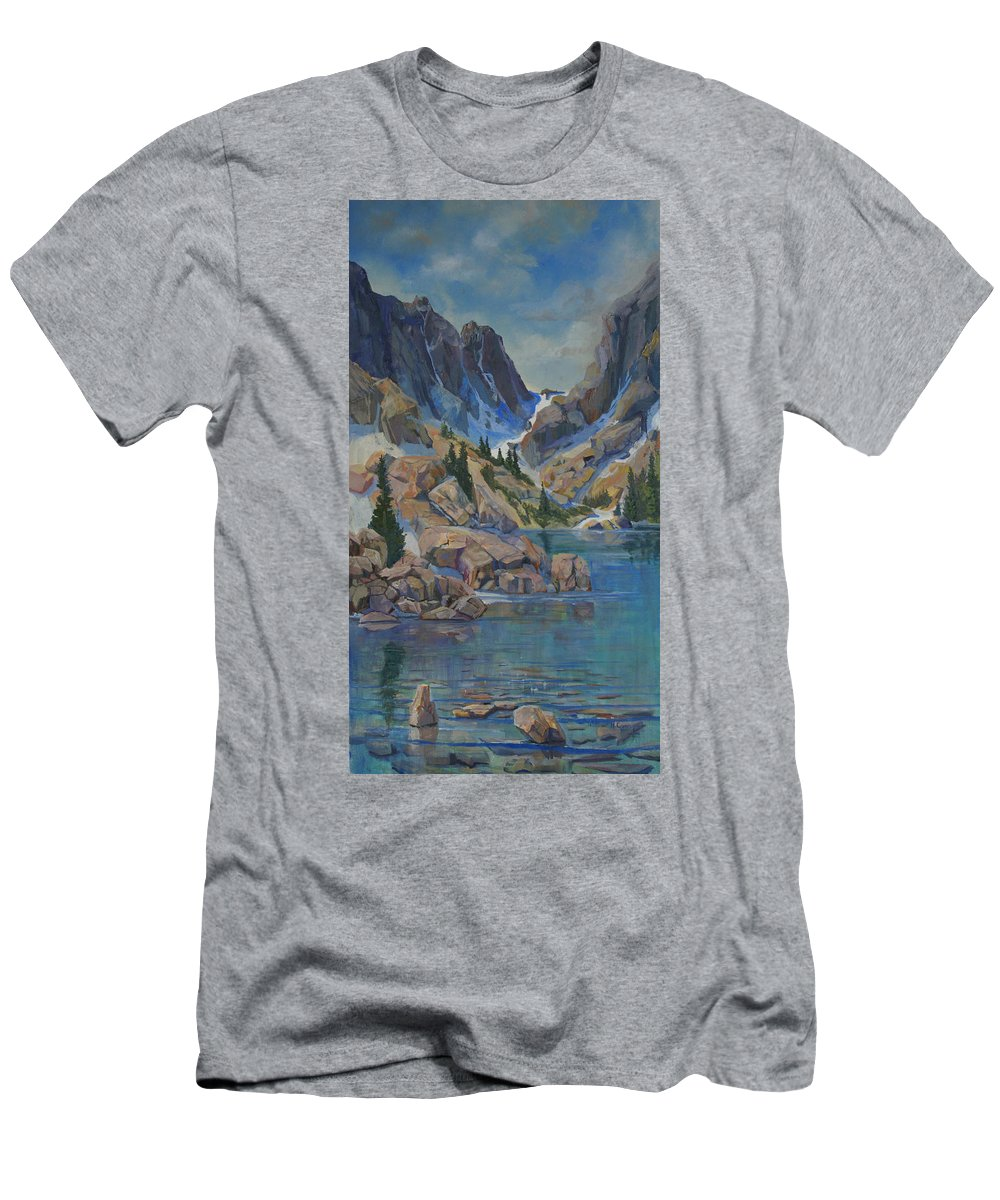 Hayden Spires Men's T-Shirt (Athletic Fit) featuring the painting Near Hayden Spires by Heather Coen