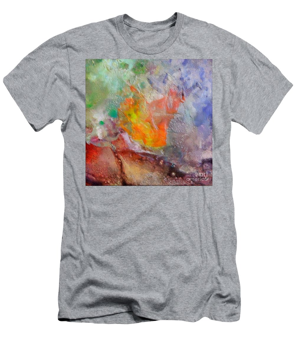 Abstract Men's T-Shirt (Athletic Fit) featuring the painting Nebula Volar by Dragica Micki Fortuna