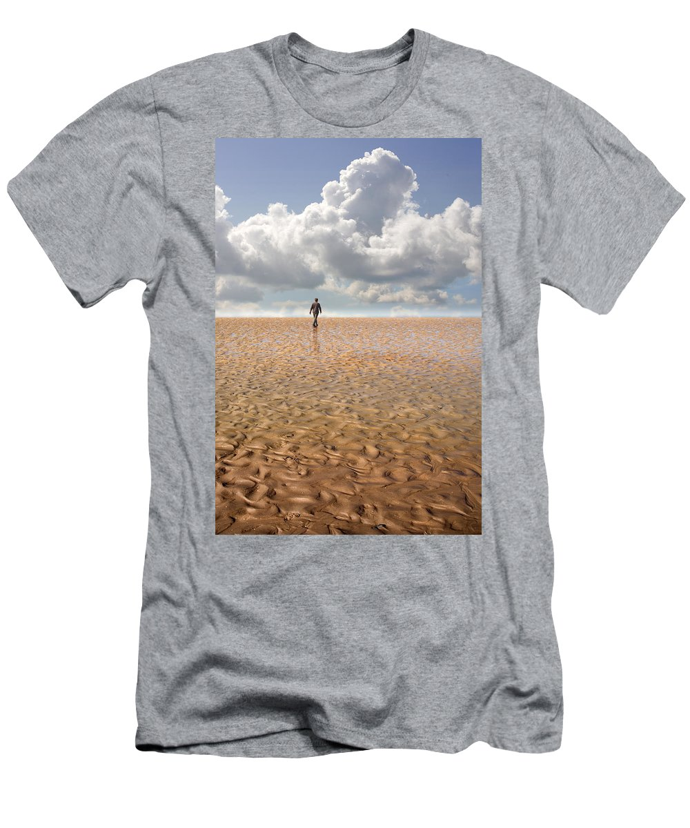 Landscape Men's T-Shirt (Athletic Fit) featuring the photograph Never Go Back by Mal Bray