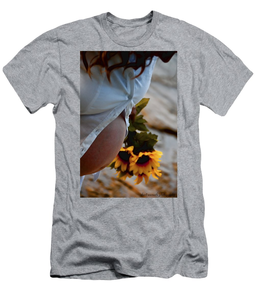 Maternity Men's T-Shirt (Athletic Fit) featuring the photograph New Momma by Sheri Bartoszek