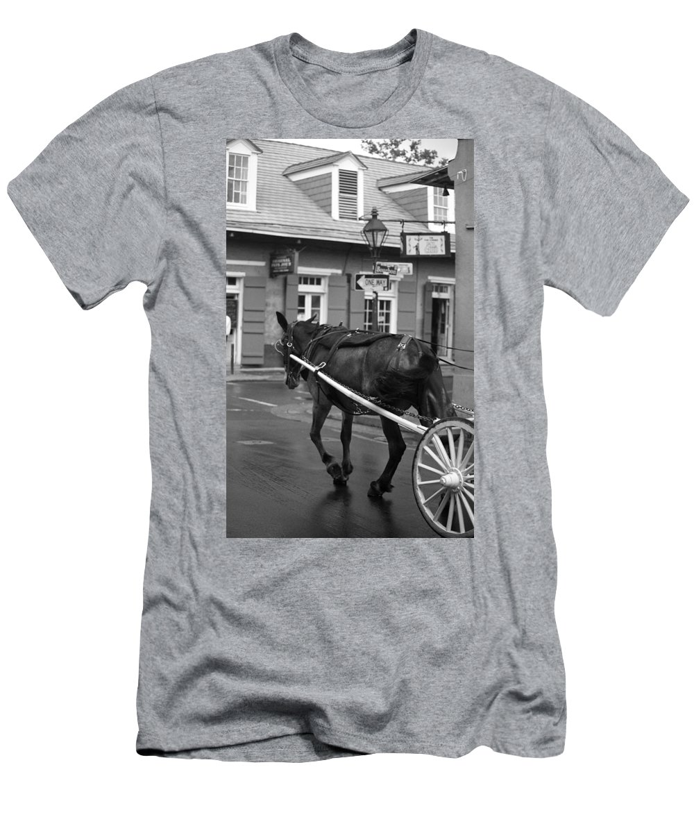 America Men's T-Shirt (Athletic Fit) featuring the photograph New Orleans Street Photography 3 by Frank Romeo