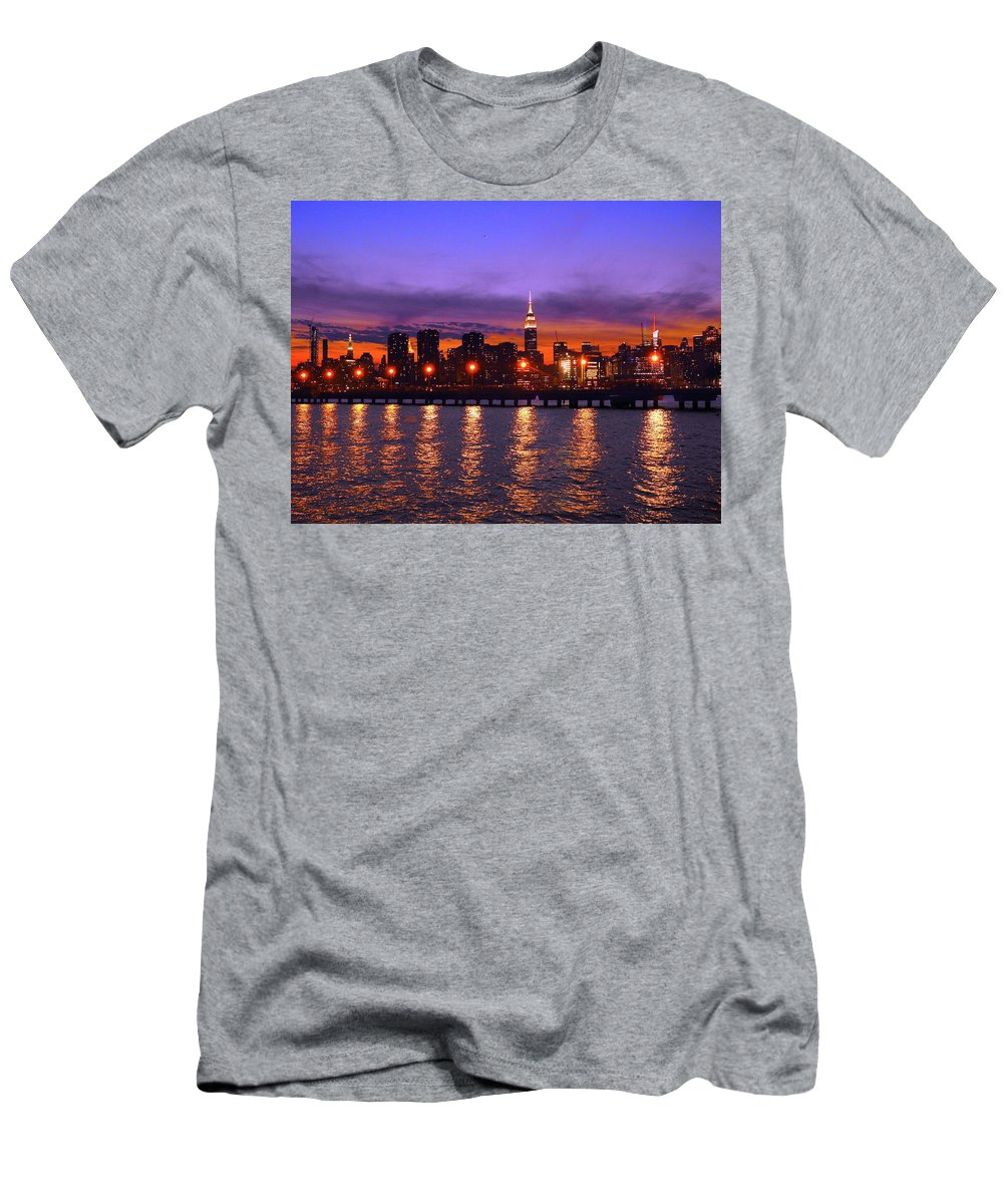 Nyc Men's T-Shirt (Athletic Fit) featuring the photograph New York City by Drew Goehring