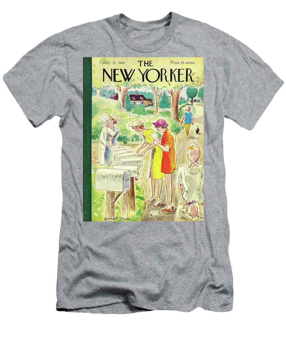 Country T-Shirt featuring the painting New Yorker July 12 1941 by Garrett Price